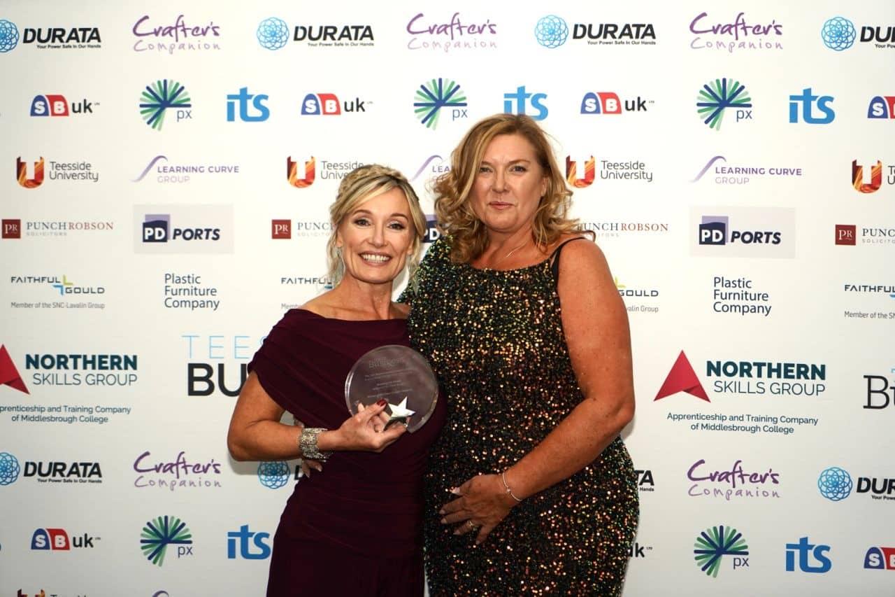 Nikki Sayer wins Breaking the Mould Award at Tees Businesswomen Awards 2021