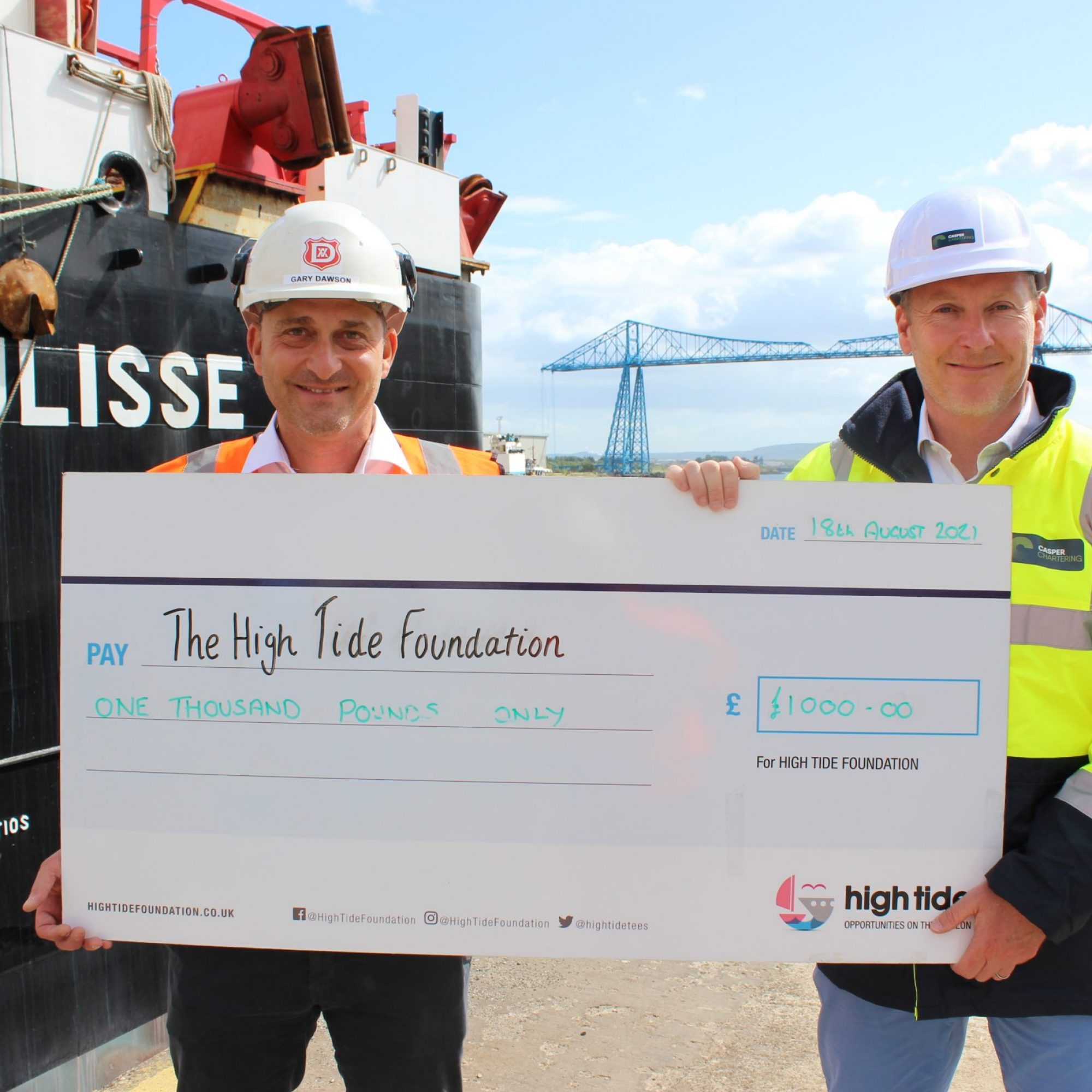 High Tide donation